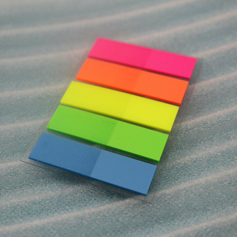 1000PC Multi color Sticky Notes Highlighter Index Tab ...