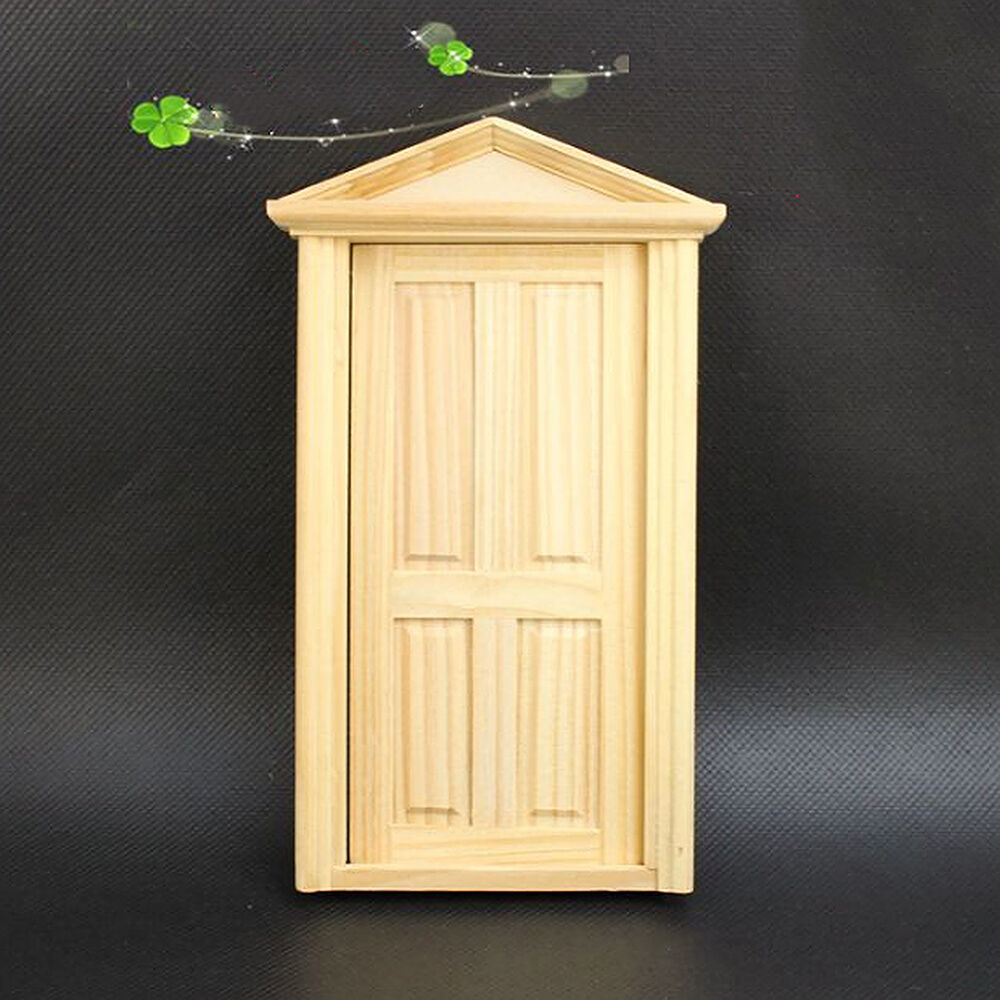Nice 1 12 Scale Doll House Miniature Classical Furniture Wooden Door Diy Toy Ebay