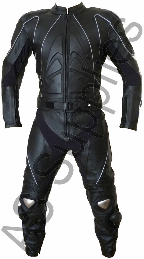 """STIG"" neXus 2-piece Leather Biker Motorcycle Suit - Reflective - All sizes 