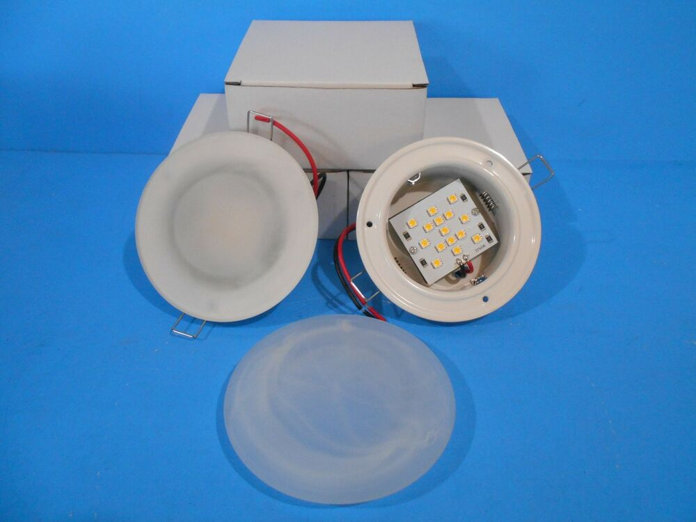 12 volt recessed 4 3 4 led interior ceiling mount lights rv ebay