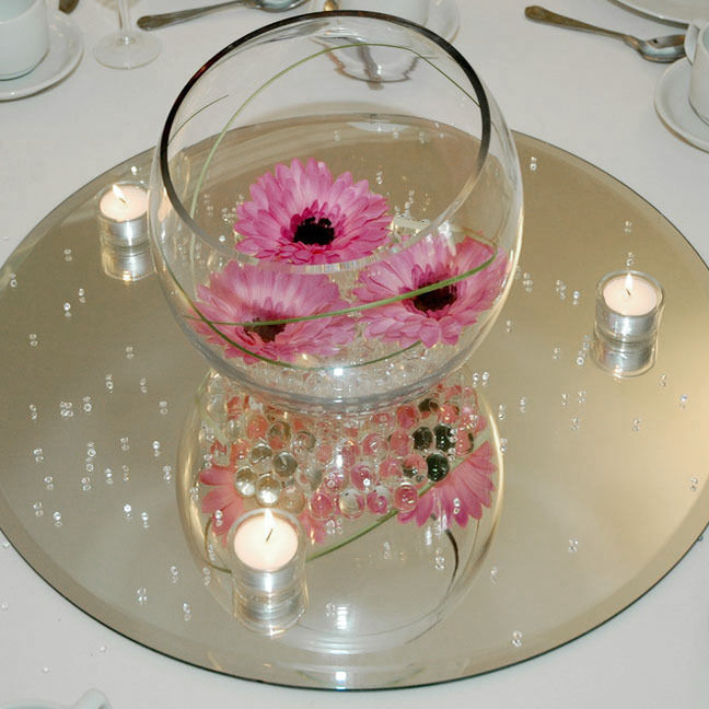clear mirror base for centerpieces round square ebay. Black Bedroom Furniture Sets. Home Design Ideas