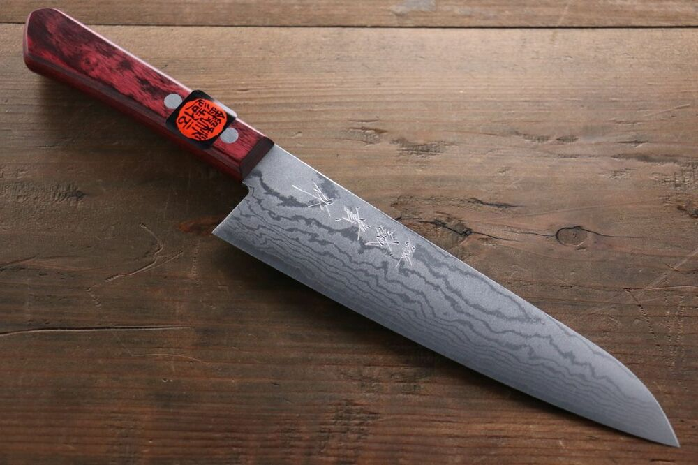 shigeki tanaka 17 layer damascus hand forged japanese chef 39 s gyuto knife 210mm ebay. Black Bedroom Furniture Sets. Home Design Ideas