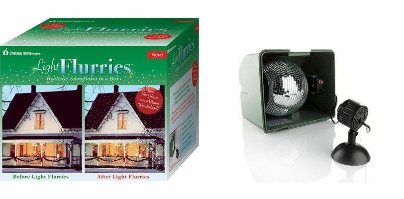 the light flurries snow show christmas house lighting. Black Bedroom Furniture Sets. Home Design Ideas
