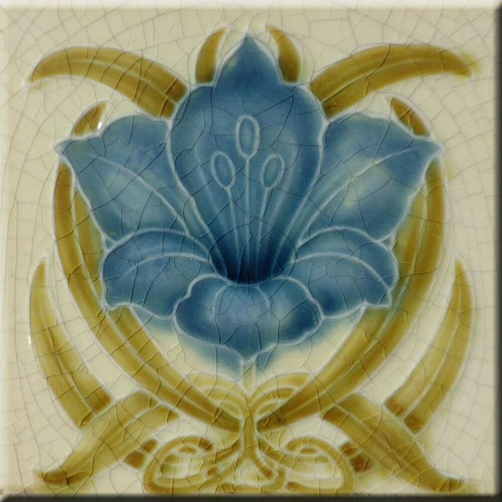 Art Nouveau Ceramic Decorative Wall Tile X Inches 185 Ebay