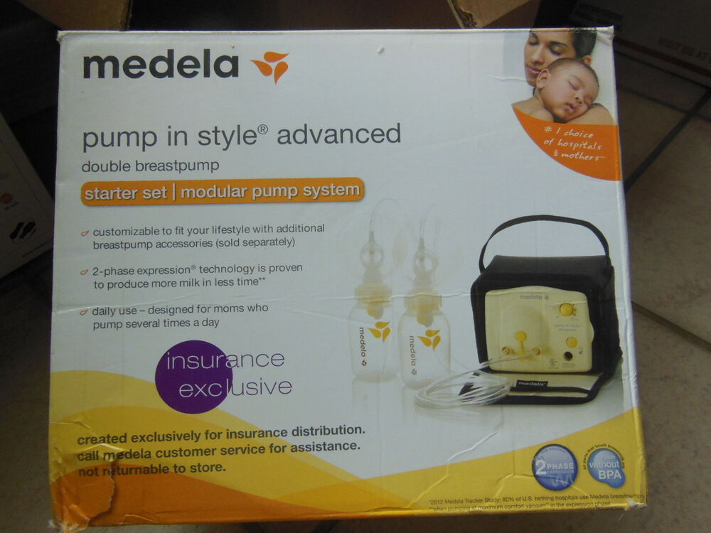 Medela double breast pump in style