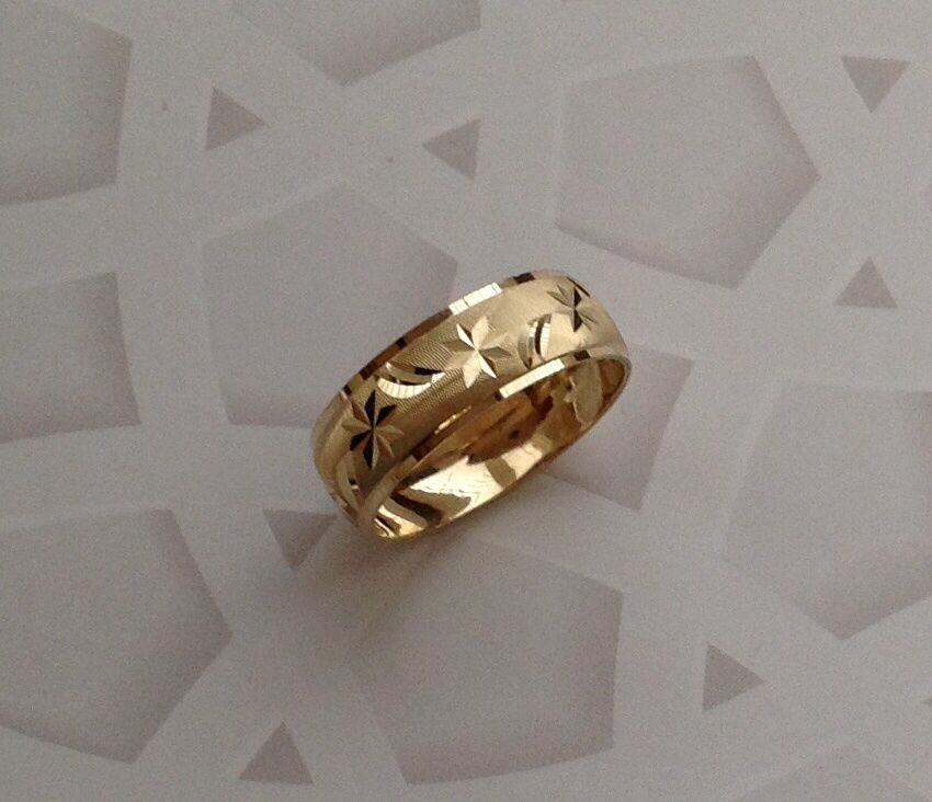 14k solid gold mens womens wedding band ring 513 free