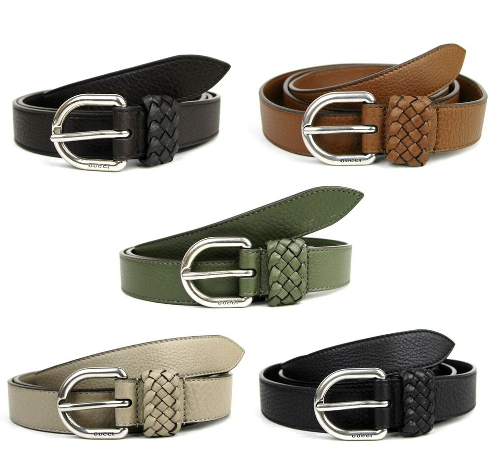 NEW Authentic GUCCI Mens Leather Wrap Belt with Orval ...