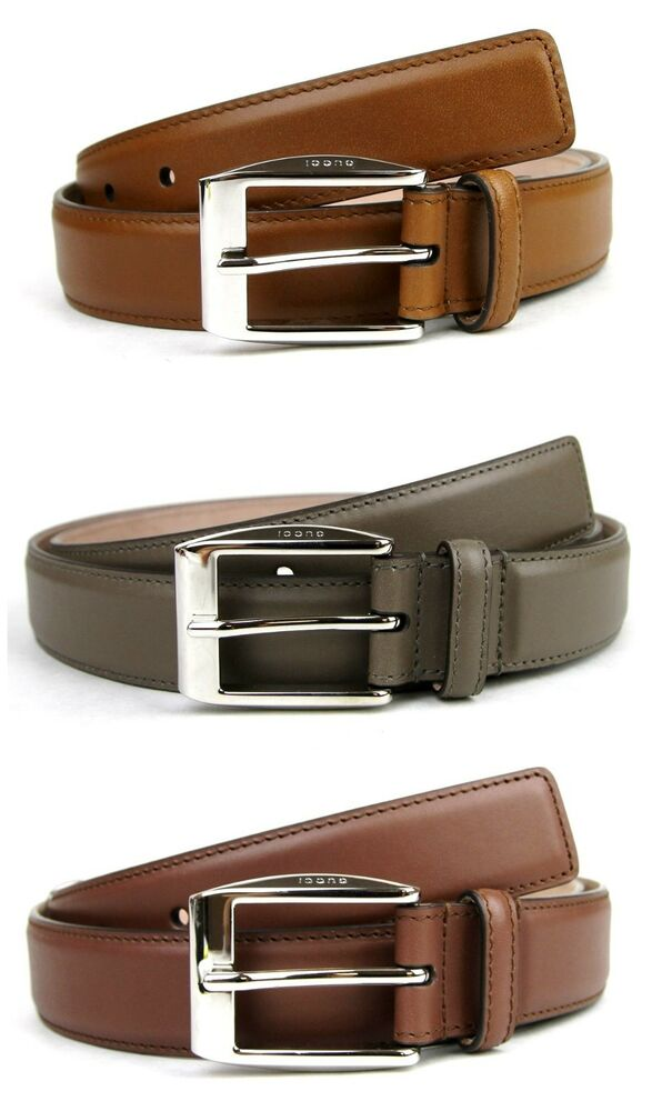 cffe64ea4e8 NEW Authentic GUCCI Mens Leather Belt with Classic Square Buckle 336831  bgh0n