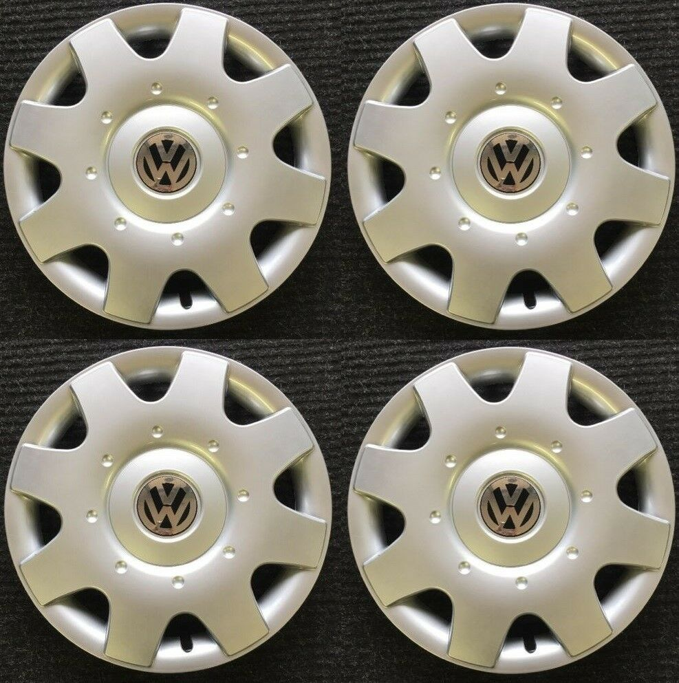 vw  volkswagen hubcap wheel cover set  ebay