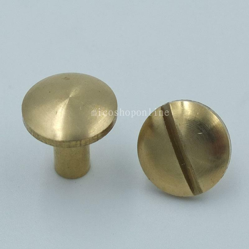 Mm solid brass domed arc head stud button