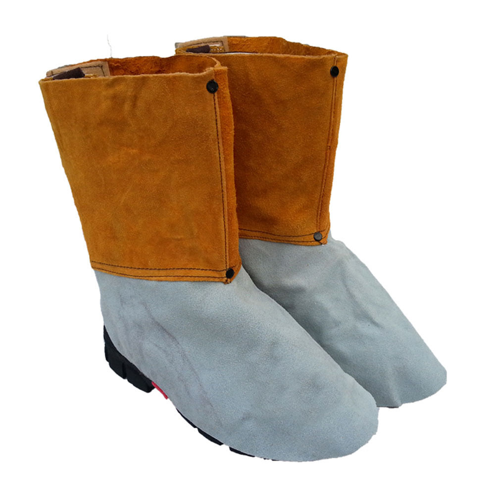 welding leather shoe cover heat insulation protection
