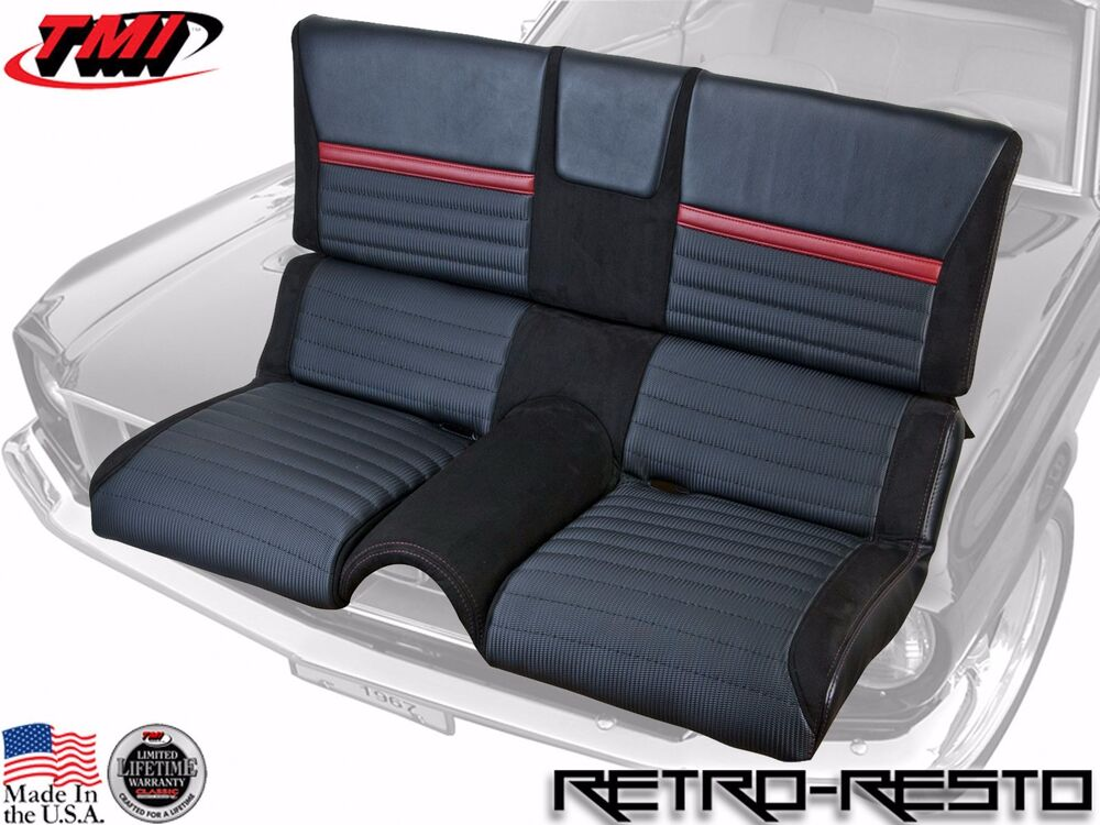 1969 70 Ford Mustang Mach 1 Sport R Rear Seat Upholstery Only Ebay