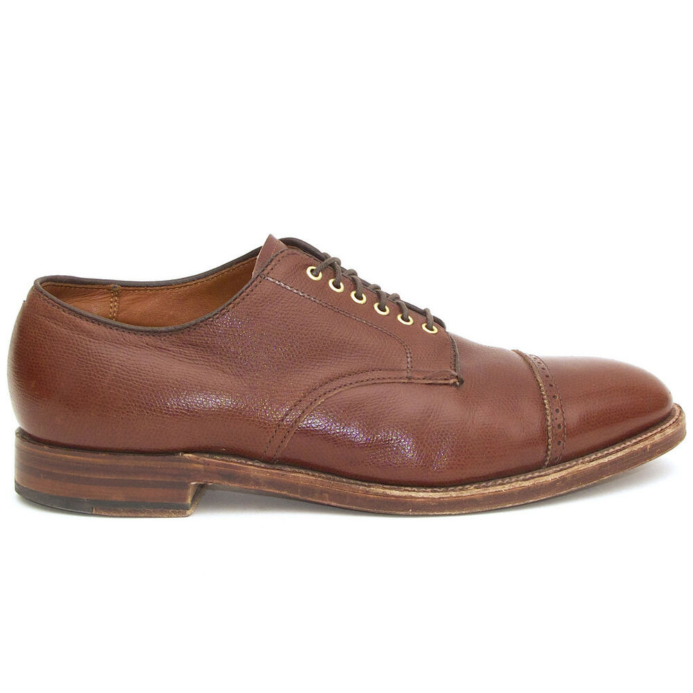 Alden For J Crew Perforated Cap Toe Bluchers Brown Alpine