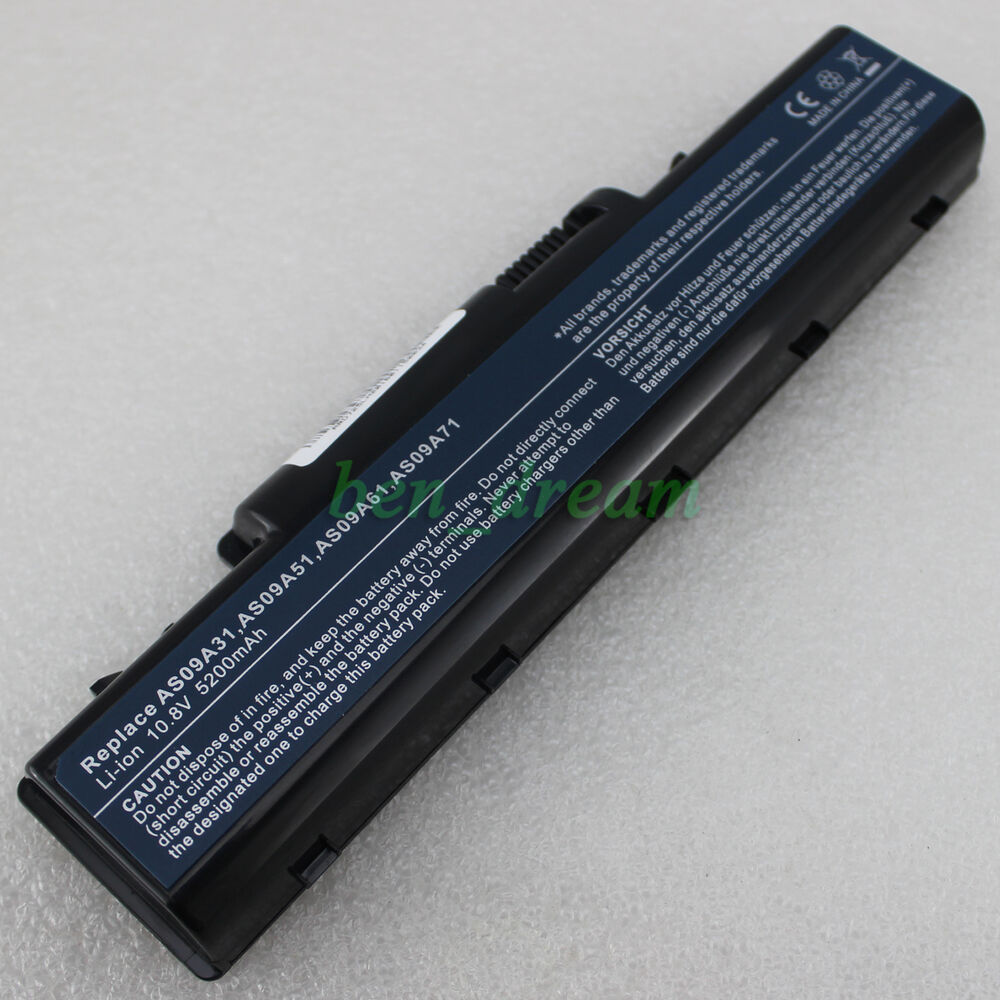 Laptop 6Cell Battery For Acer Emachines D520 D725 E525