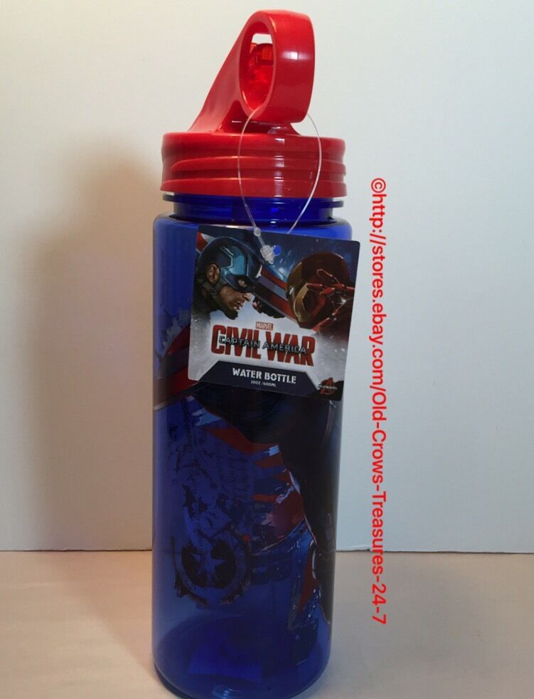 Marvel Captain America Civil War Water Bottle NEW Gift