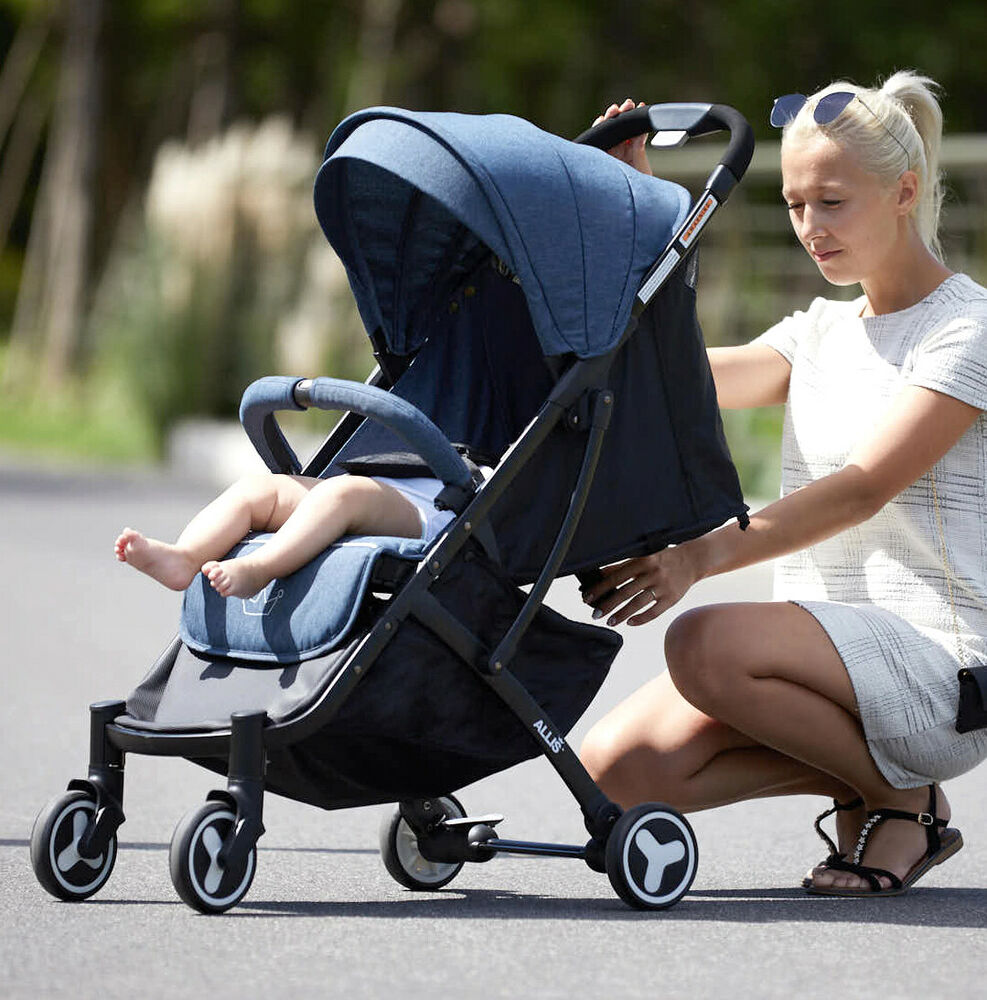 allis baby buggies pram pushchair stroller carry cot travel 2 in 1 grey ebay. Black Bedroom Furniture Sets. Home Design Ideas