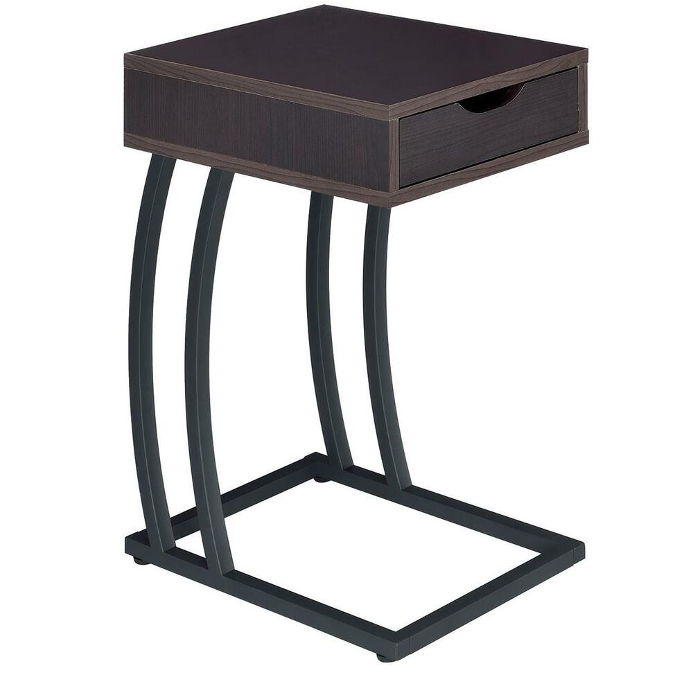 cappuccino finish accent table with outlets usb ports by coaster 900578 ebay. Black Bedroom Furniture Sets. Home Design Ideas
