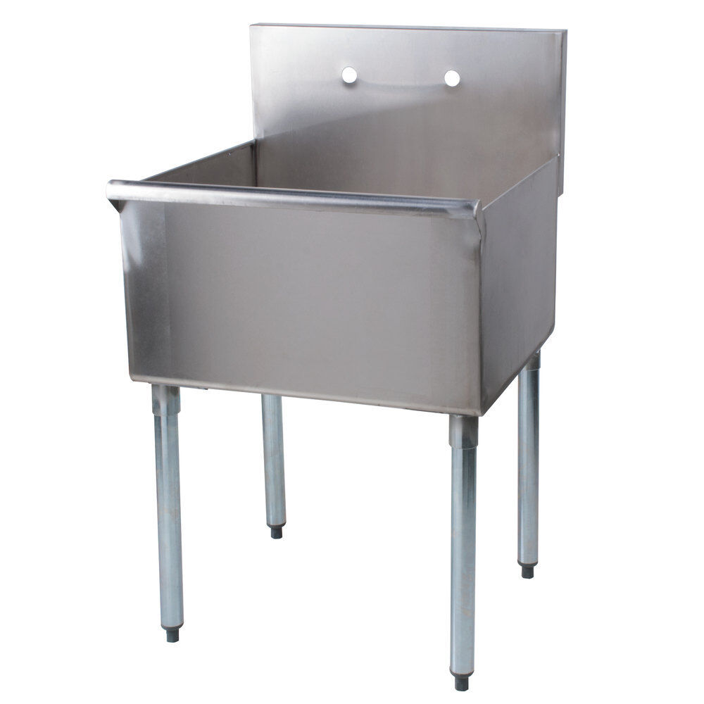 Stainless Steel Mop Sink Commercial : ... Stainless Steel One Compartment Commercial Sink 600S12424B eBay
