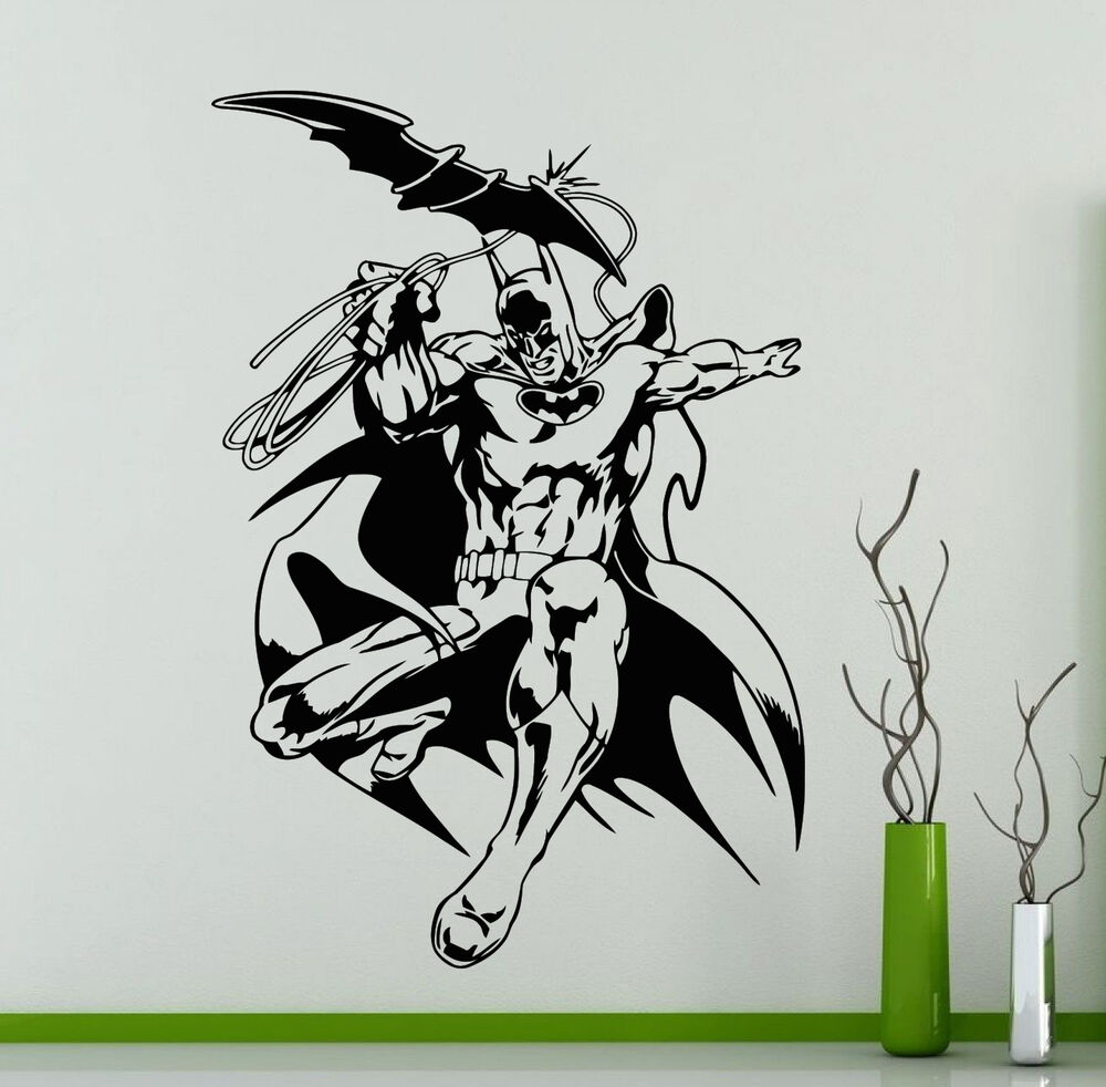 Batman wall decal dark knight vinyl sticker art decoration for Batman wall mural