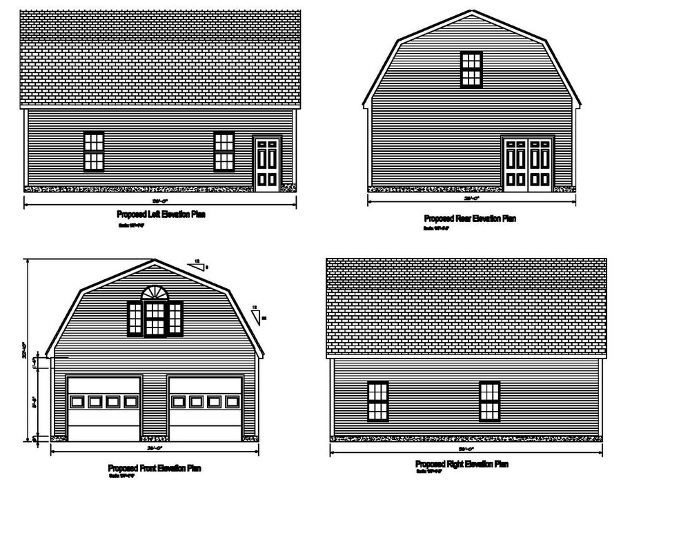 26 39 x36 39 gambrel roof garage plan 36 39 x26 39 gambrel barn for 26 x 36 garage