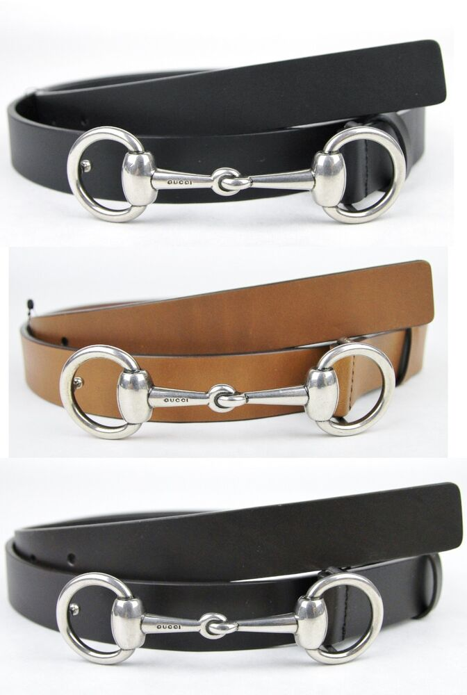 NEW Authentic GUCCI Mens Leather Belt with Horsebit Buckle ...