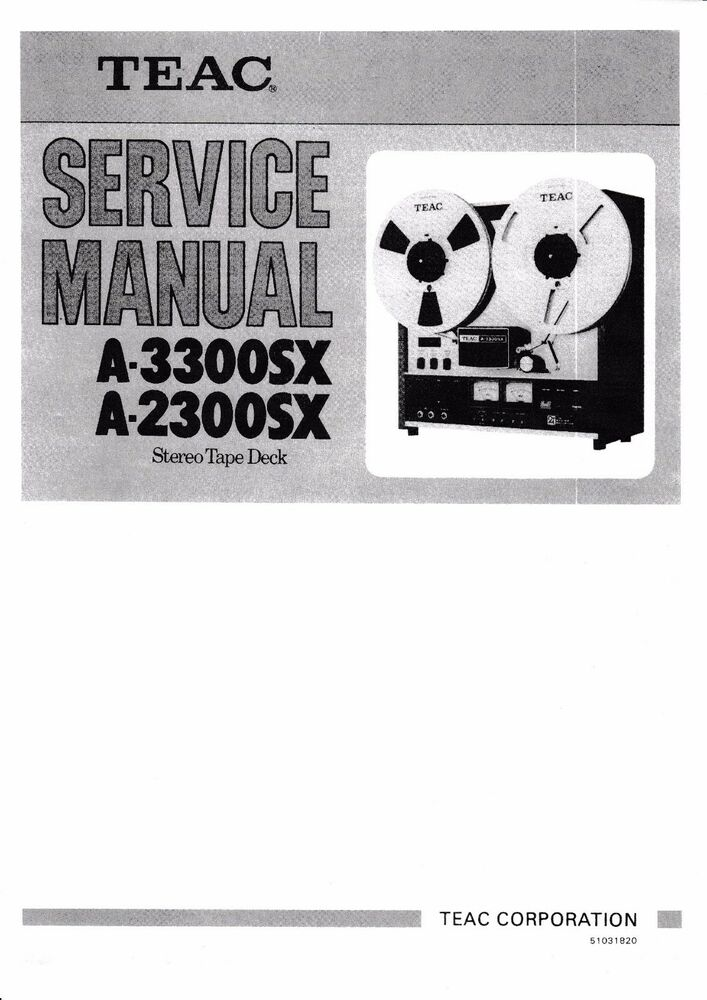 Teac ag 680 service Manual