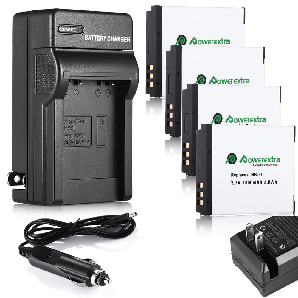 Nb 6lh Nb 6l Battery Amp Charger For Canon Powershot Sx510