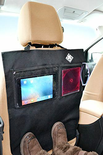 Car Seat Back Protector Covers Kick Mat Vehicles Black
