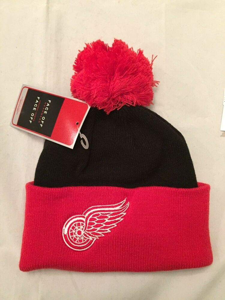 be771be8bfd Details about Detroit Red Wings NEW Youth Reebok Knit Winter Hat . NHL  Hockey OSFM NWT Cap Fan