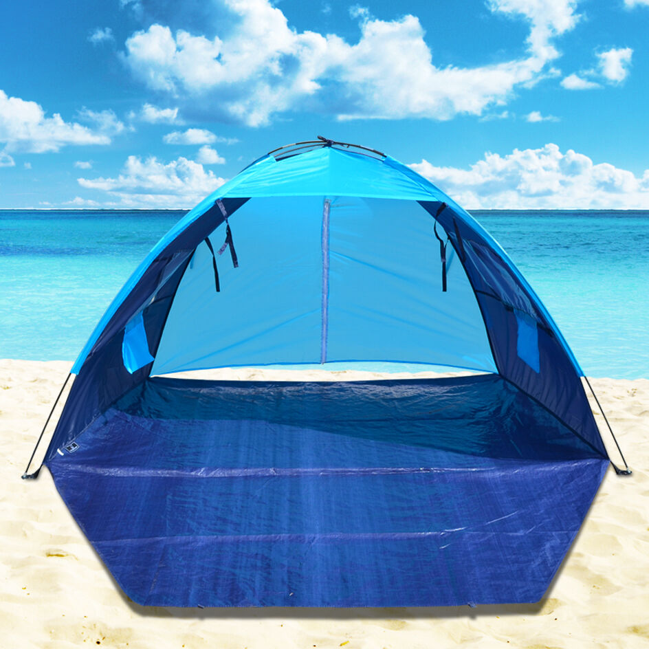 pop up potable beach shelter tent camping sun shade outdoor canopy ebay. Black Bedroom Furniture Sets. Home Design Ideas