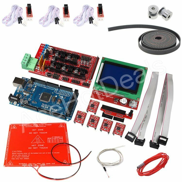 3d printer kit ramps 1 4 12864 lcd mk2b heatbed controller reprap prusa i3 ebay. Black Bedroom Furniture Sets. Home Design Ideas