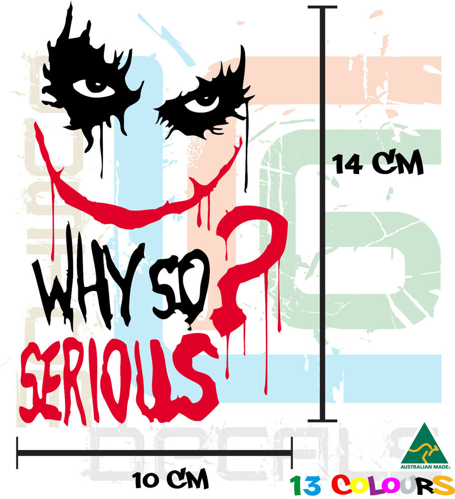 The joker suicide squad 2 colour serious sticker for xbox ps4 car bike pc home ebay