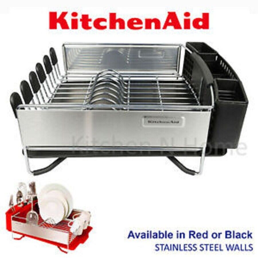 Kitchen Aid 3 Pc Dish Cup Holder Plate Drying Drainer Rack