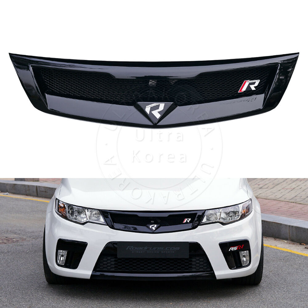 Roadruns Front Radiator Grille Glossy Black for Kia Cerato ...