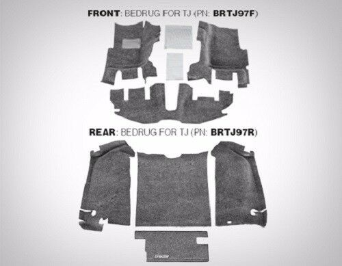 Bedrug Complete 7 Piece Front And Rear Carpet Kit 1997