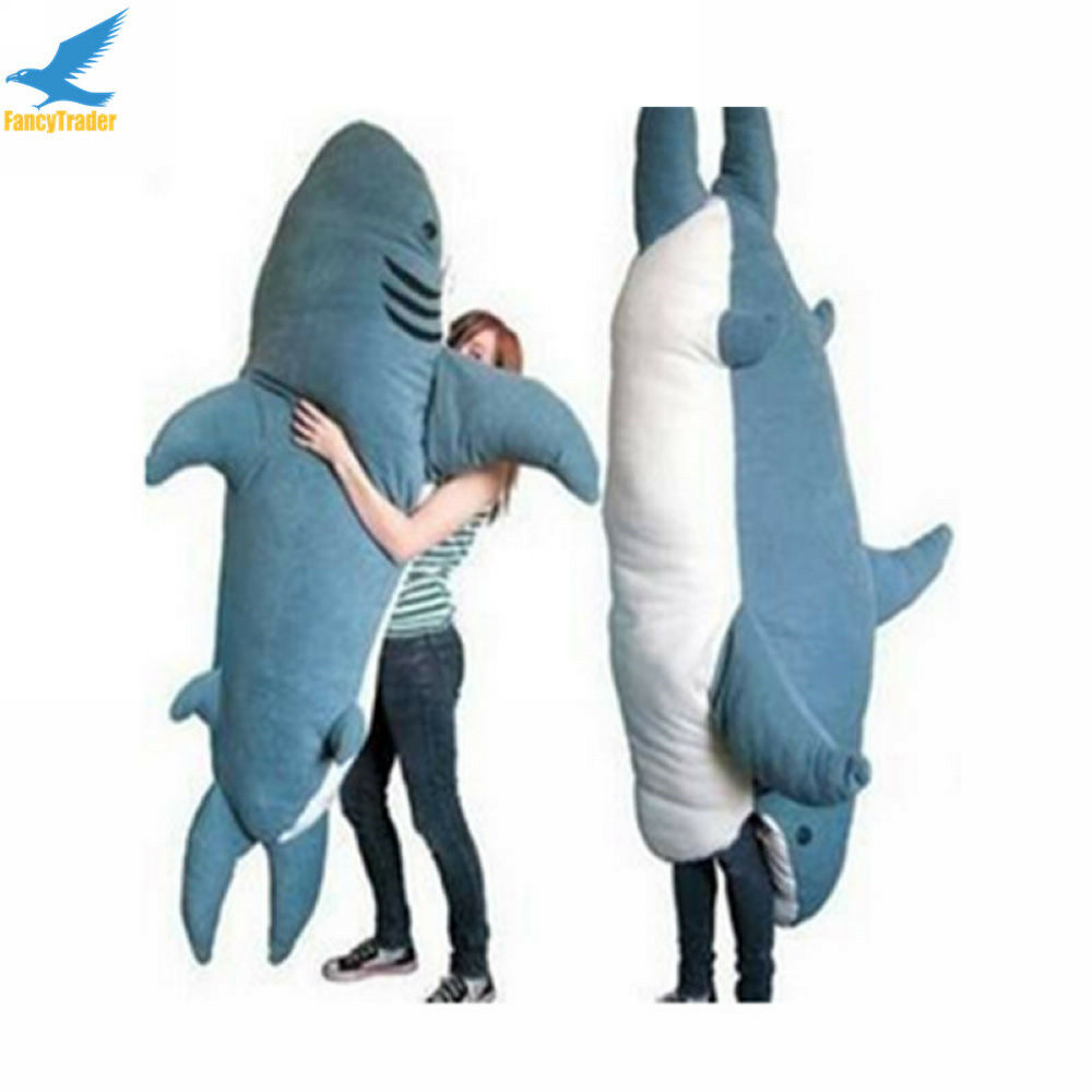 fancytrader huge giant shark sleeping bag beanbag sofa bed