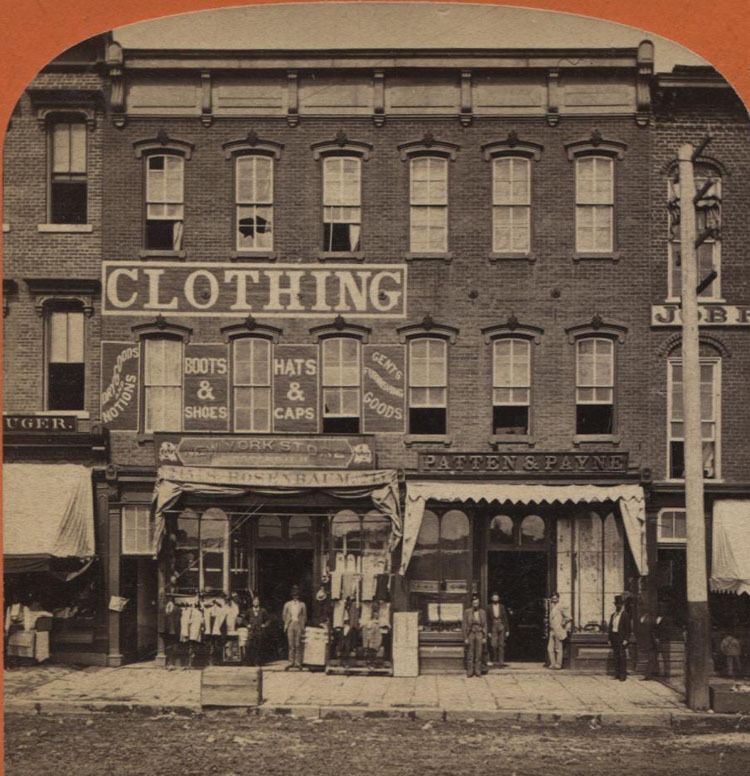 76 Best Images About Historic Downtown Storefronts On: STEREOVIEW MARKET STREET, CHATTANOOGA, TENNESSEE.
