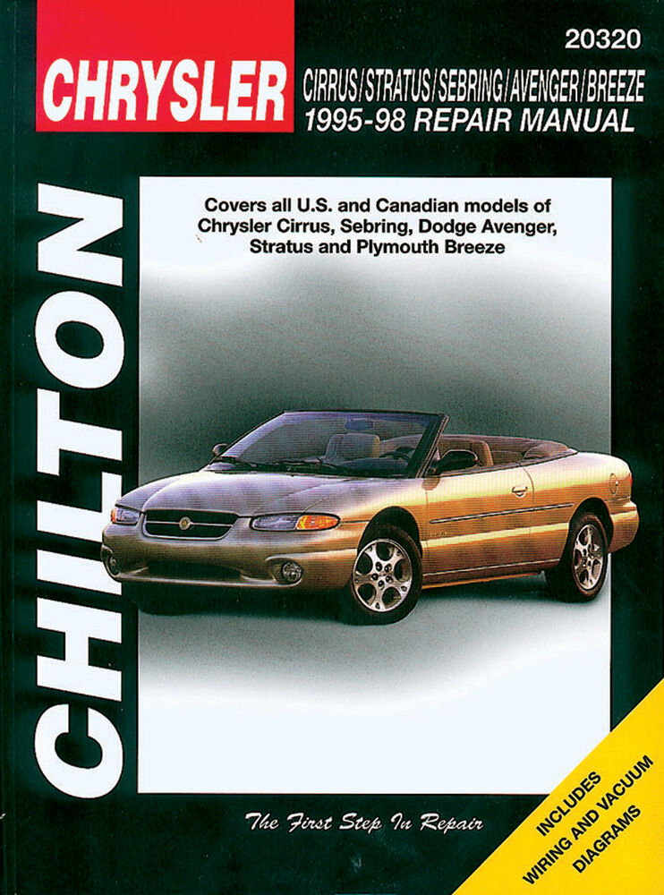 chilton repair manual chrysler cirrus stratus sebring. Black Bedroom Furniture Sets. Home Design Ideas