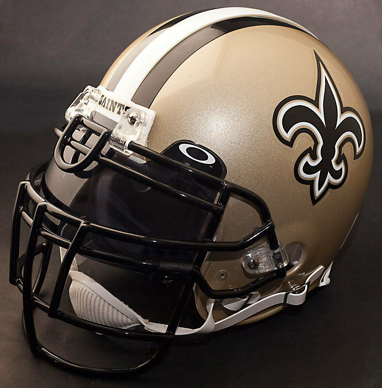 NEW ORLEANS SAINTS NFL Authentic GAMEDAY Football Helmet w ...