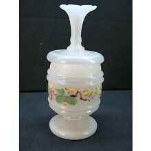 Vintage Covered Hand-Painted Bristol Jar