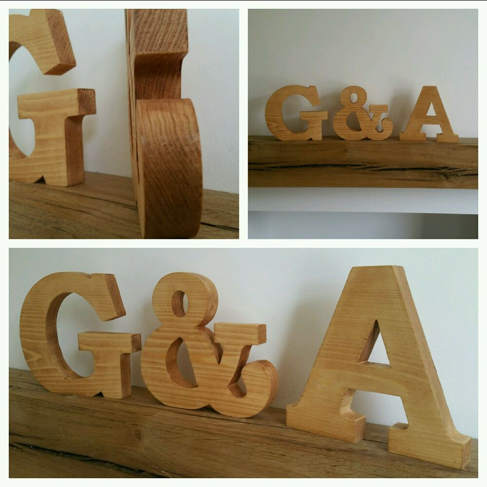 Large wooden letters solid wood free standing personalised for Ebay wooden letters