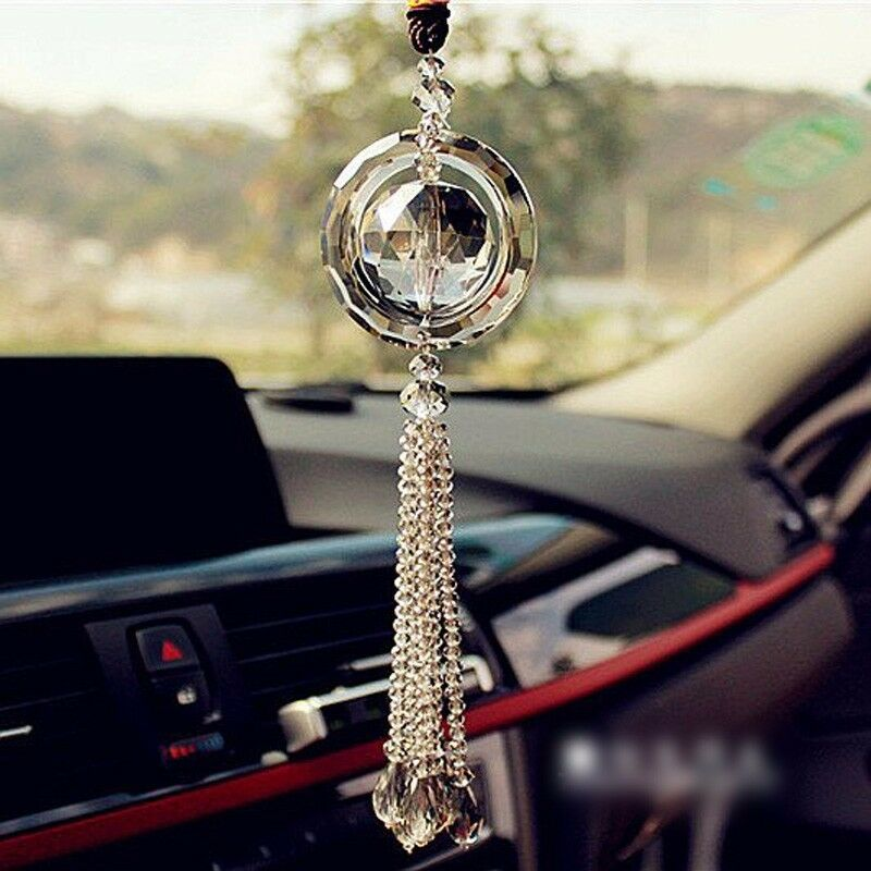 hot car rear view mirror pendant crystal car hanging