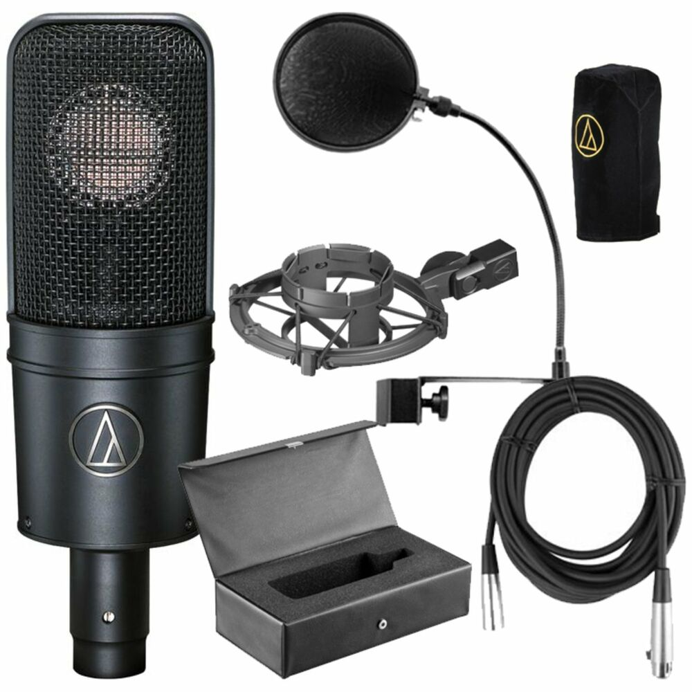 audio technica at4040 bundle at 4040 cardioid condenser mic pop filter cable new 799928927796 ebay. Black Bedroom Furniture Sets. Home Design Ideas