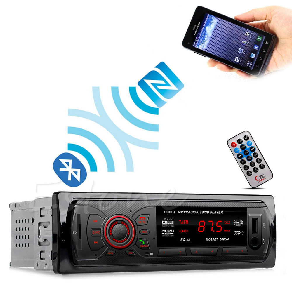 car bluetooth stereo music player hands free phone mp3 fm. Black Bedroom Furniture Sets. Home Design Ideas