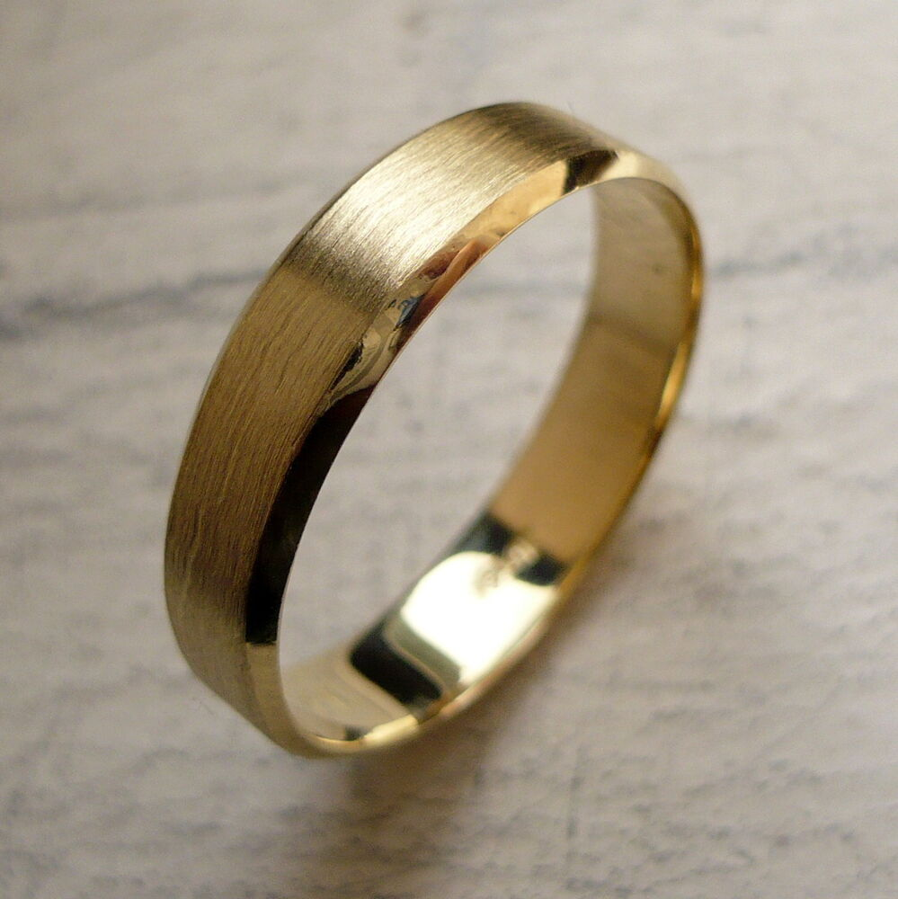 ALL NEW 5mm 14K SOLID GOLD MEN'S WEDDING ANNIVERSARY BAND