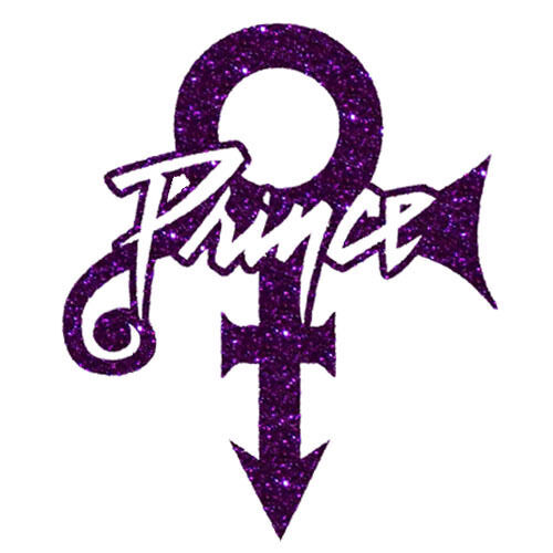 Prince Symbol With Name Glitter Vinylrhinestone Transfer Bling