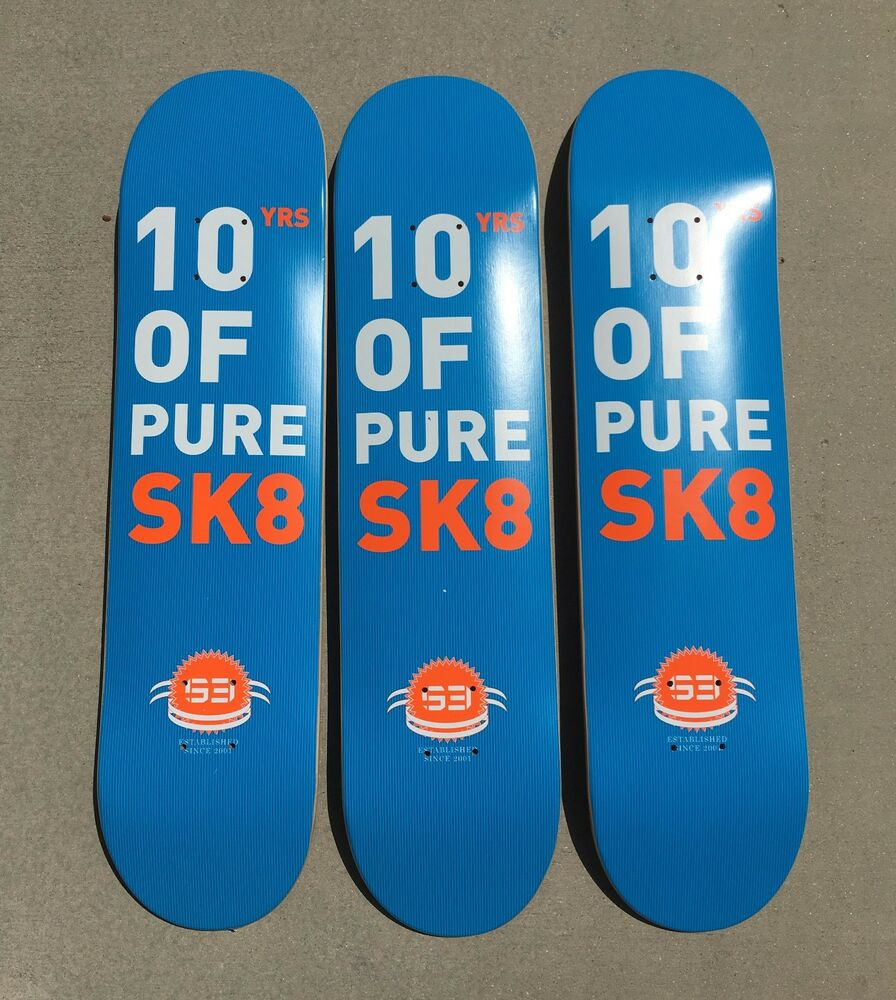 Lot Of 3 S3 Skateboard Deck Great Deal Quality Nice