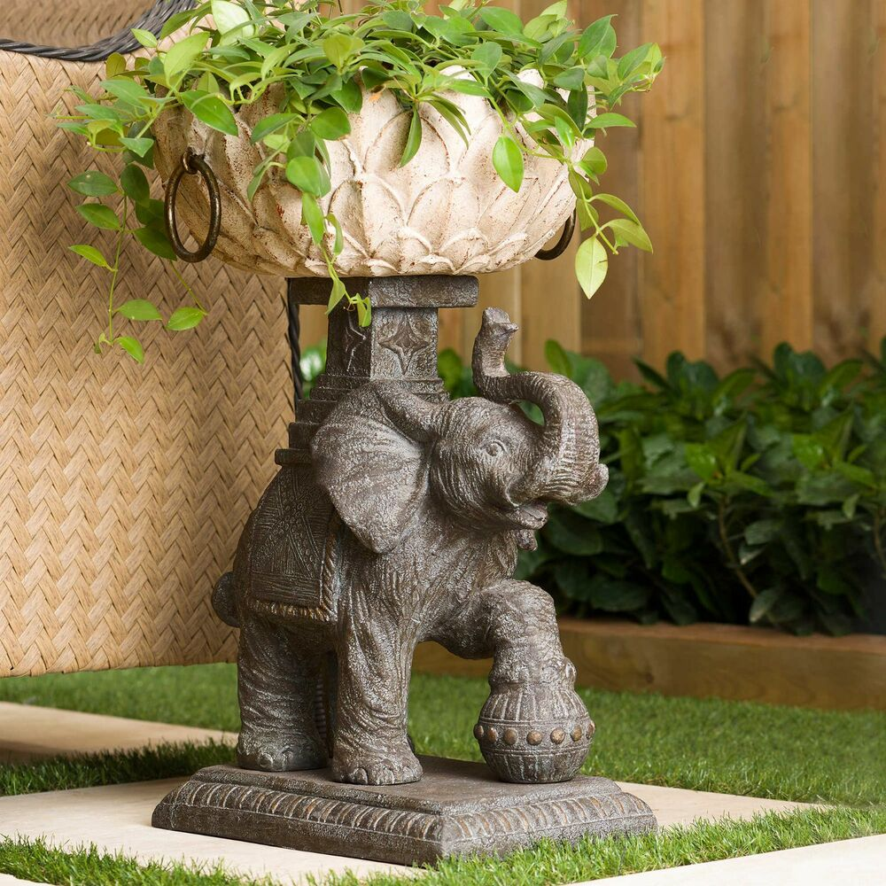Outdoor Elephant Plant Pot Planter Decor For Flowers
