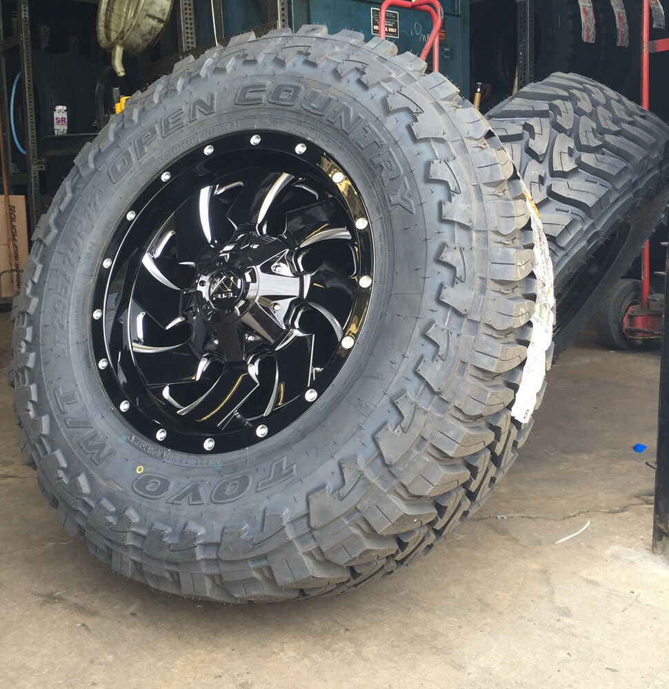 "F150 Rims And Tires Package >> (5) 17"" Fuel Cleaver Black Wheels Jeep Wrangler JK 33"" Toyo MT Tires Package 
