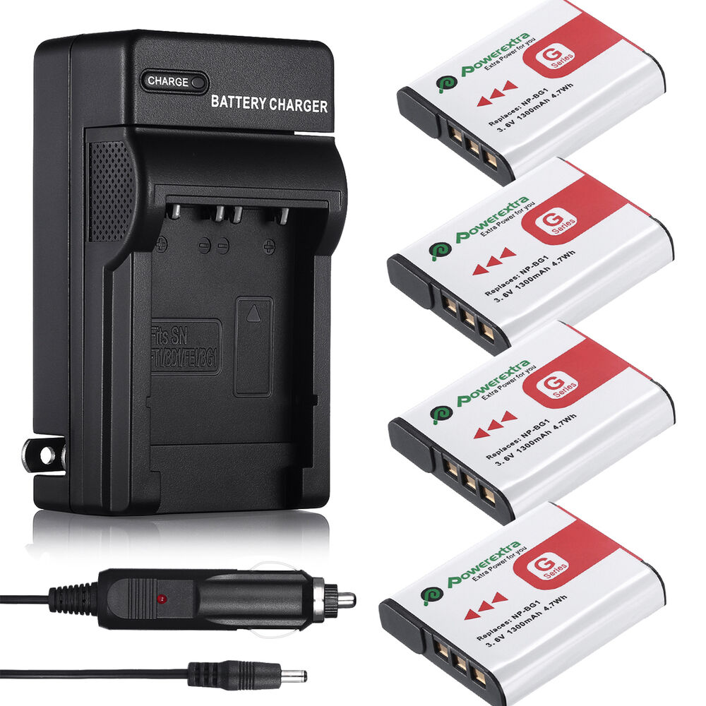Type G Battery For Sony Cybershot Np Bg1 Fg1 Dsc H20 H9 H3 T100 W90 W80 Charger Ebay